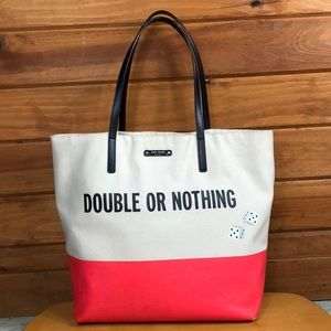 Kate Spade ♠️ Double or Nothing Bon Shopper Tote